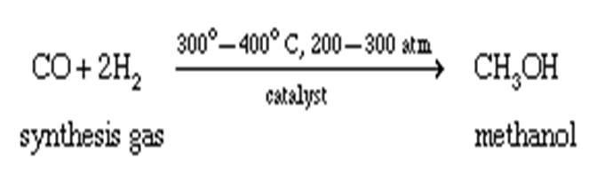 معادله تولید متانول
