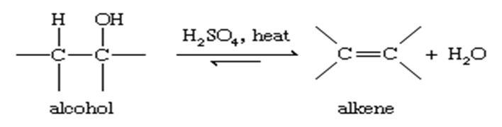 معادله آب زدایی از آلکن ها