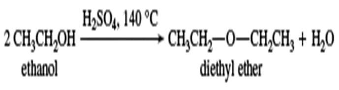 معادله واکنش آبزدایی از اترها