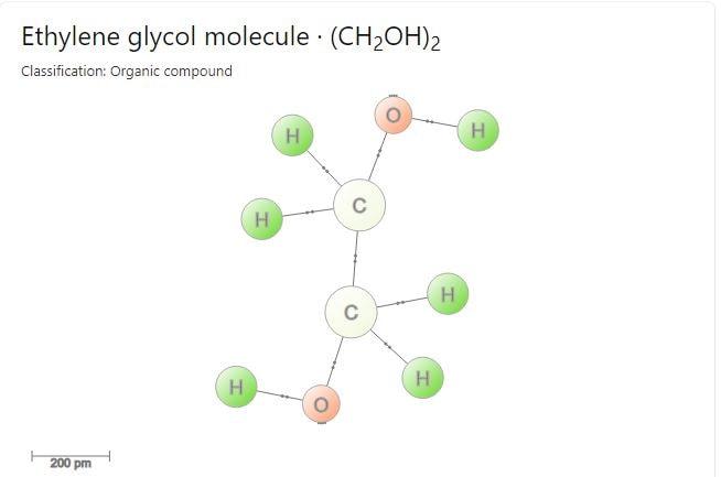 فرمول شیمیاییی اتیلن گلیکول