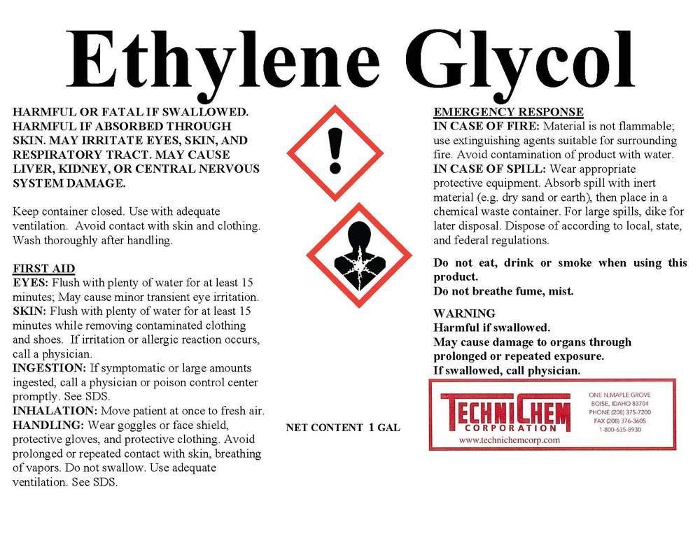 خطرات و شرایط نگه داری اتیلن گلیکول