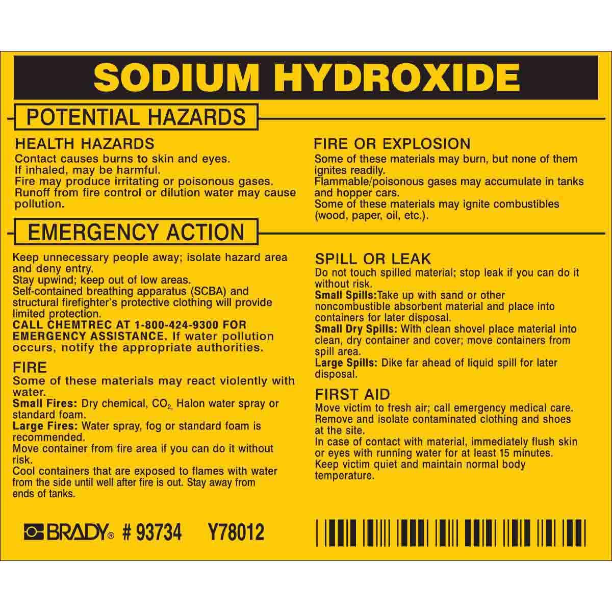خطرات سدیم هیدروکسید