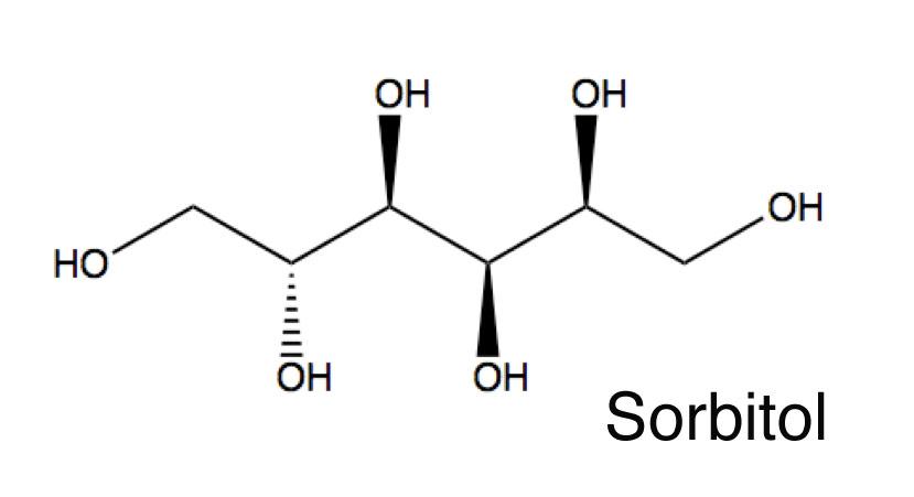 سوربیتول یک قند طبیعی است فرمول شیمیایی آن به این صورت است