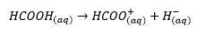 معادله یونش اسید فرمیک