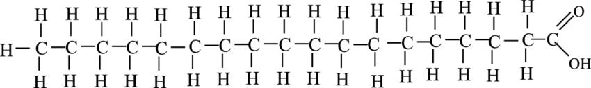 ساختار اسید استئاریک
